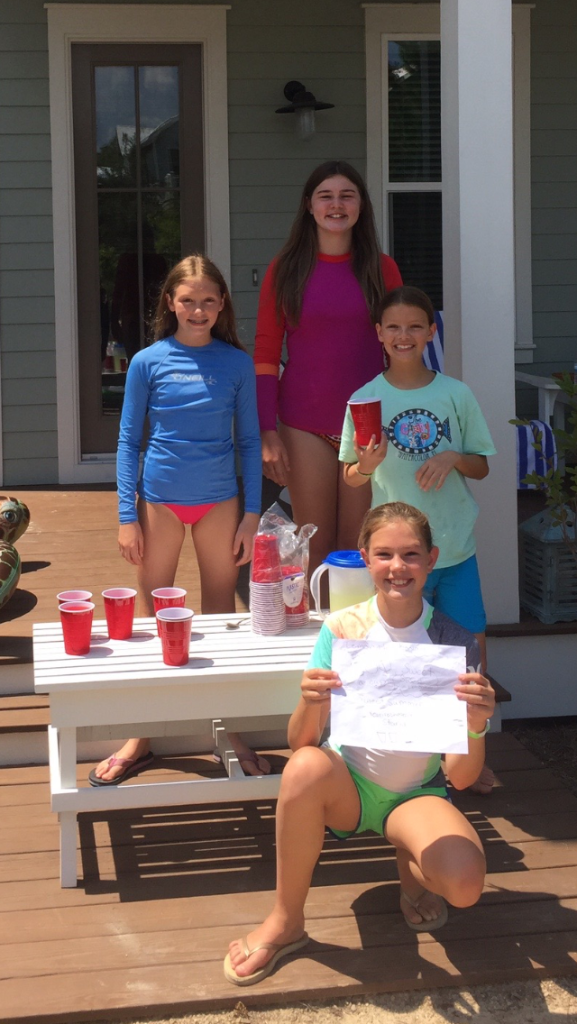 What a treat, this  young ladies had a lemonade stand and raised a $12.00 donation for us, they are, McKenna, Teagan, Kiley and Tessa.  We also go a donation of $50.00 from Ellie and Avery Grimwood from their stand.  This is so very special